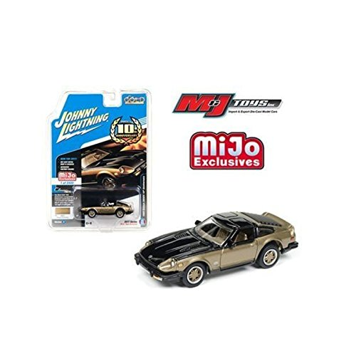JOHNNY LIGHTNING 1:64 MIJO EXCLUSIVES - CLASSIC GOLD - 1980 NISSAN 280Z DATSUN 10TH ANNIVERSARY BLACK GOLD JLCP7007-24