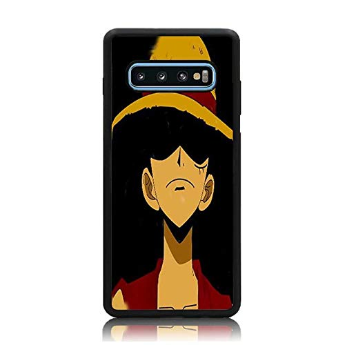 official photos 31328 7d2d6 Amazon.com: Galaxy S10 Plus Case, Anime One Piece Luffy Dark Print ...