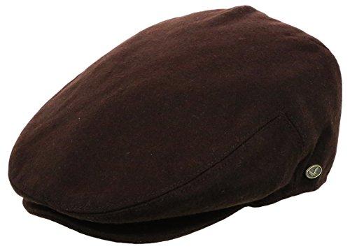 Men's Premium Wool Blend Classic Flat Ivy Newsboy Collection Hat ,Dark Brown, Medium