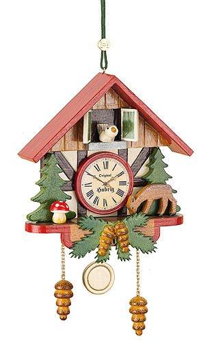Tree ornaments Tree ornament Cuckoo clock forest - 10cm / 3,9inch - Hubrig Volkskunst ()