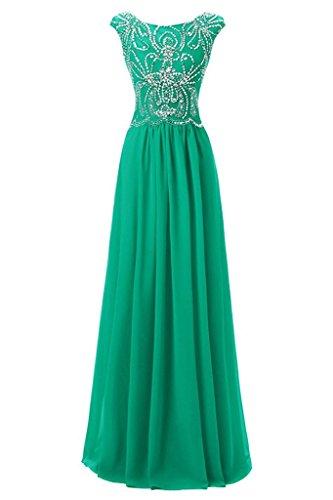 Abendkleider Chiffon Damen Promkleid Ivydressing Rundkragen Elegant Partykleid Ballkleid Jaegergruen AczWWq6U