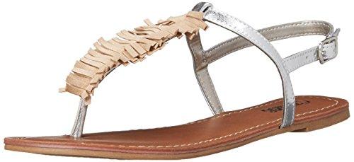 Carlos Di Carlos Santana Womens Finley Dress Sandal Natural Silver