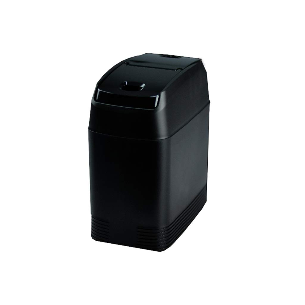 Storage Box Car with Multi-Function Storage Box Car Trash Can Special Cover Trash Can Double Color Optional JSSFQK (Color : Black)