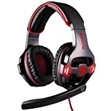 S-Mobile High Quality Cool SA-903 USB 2.0 Gaming Headphones with Mic – Black + Red with Original Package