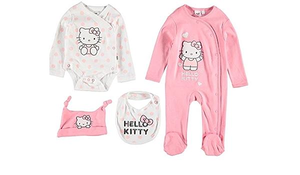 Hello Kitty - Pijamas enteros - para bebé niña rosa rosa 18 ...