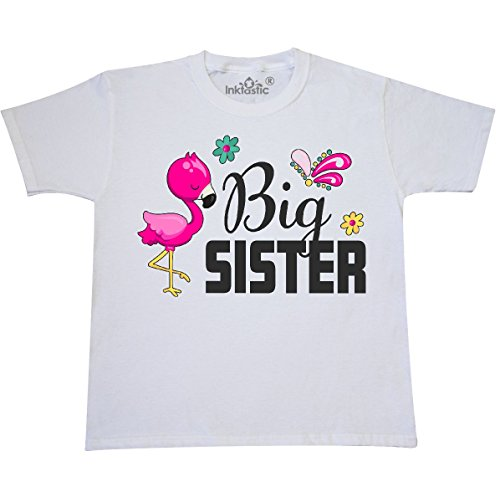 inktastic - Big Sister with Youth T-Shirt Youth Small (6-8) White 2f067