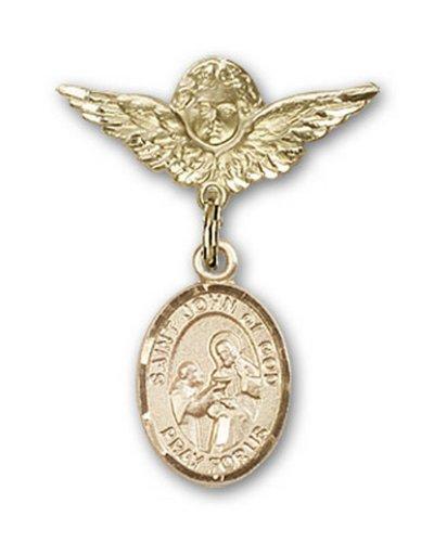 Icecarats Or Bijoux De Créateurs Rempli R. Jean De Dieu Charme Ange Broche De Badge 1 X 3/4