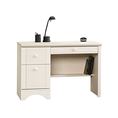 Sauder  Harbor View Computer Desk, L: 43.465″ x W: 19.449″ x H: 28.976″, Antiqued White Finish Review