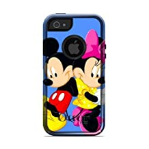 iPhone 5/5s/SE Case,OtterBox Commuter Series Custom Case for iPhone 5/5s/SE [Black] [DISNEY MICKEY MOUSE MINNIE MOUSE](FGLKKLLD91539 )