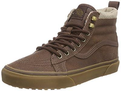 Vans Men SK8-HI MTE Fashion Shoes (9 D(M) US Men, Brown/Herringbone)