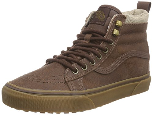 Vans Sk8-hi MTE, Unisex Adults' Hi-Top Sneakers Brown (Mte/Brown/Herringbone)
