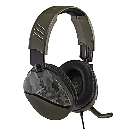 Turtle Beach Recon 70 Green Camo Gaming Headset – Xbox One, PS4, PS5, Nintendo Switch, & PC