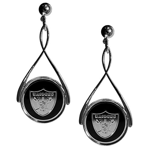 Siskiyou NFL Oakland Raiders Tear Drop Earrings