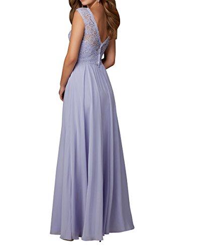 Brautjungfernkleider Chiffon Gelb Abschlussballkleider A La Abendkleider Promkleider Linie Brau Spitze mia Partykleider Langes vn7I7zSq