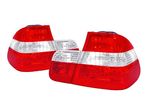 - DEPO Crystal Euro Clear/Red Rear Tail Light FIT 2002-2005 BMW E46 3 Series 4D Sedan