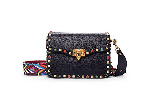 Wide Shoulder Small XDDB Bag Bag Shoulder Oblique Diamond Green Wild Studs Small Ladies Square Strap Leather d584qn8r