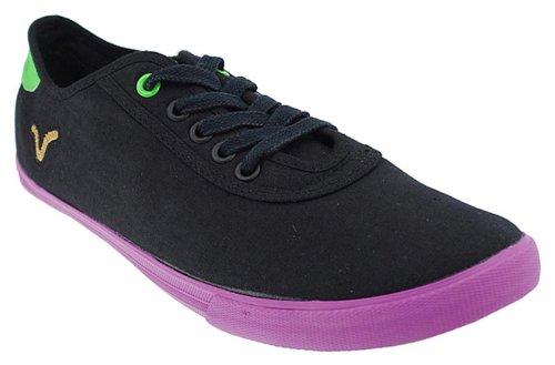 Voi Jeans Chaussures en Toile pour Homme senitor Noir/Violet.