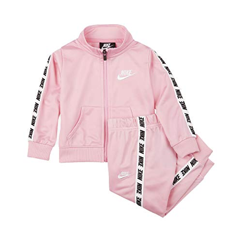 (NIKE Baby Girls' 2-Piece Tracksuit - Pink, 12 Months)