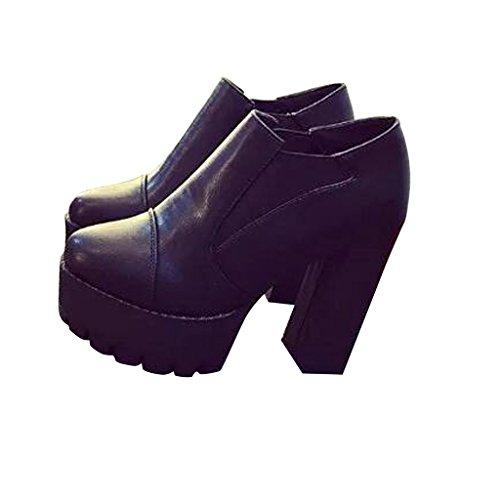 Estimados Zapatos De Tacón Alto De Plataforma Time Mujer De Black