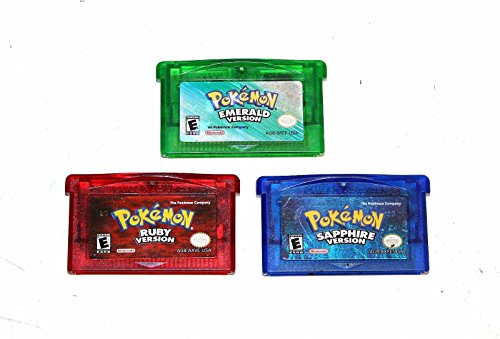 Pokemon Generation 3 Emerald Sapphire Ruby GBA Authentic Game Bundle
