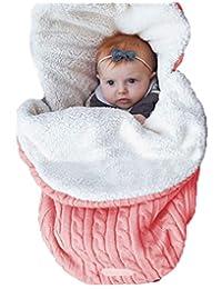 SUPEYA Baby Boy Girl Knit Fleece Blanket Swaddle Sleeping Bag Sleepsack Stroller Wrap