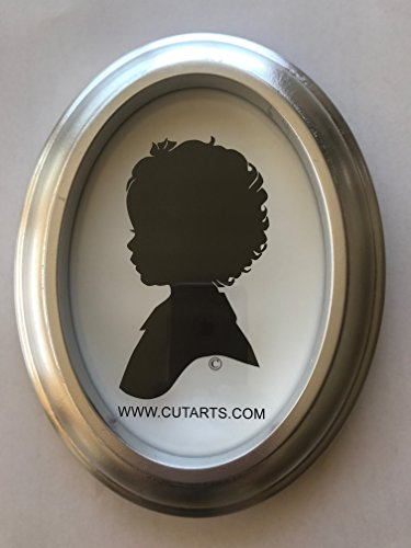 Silver Leaf Oval 5x7 Frame - Frame Oval Silhouette