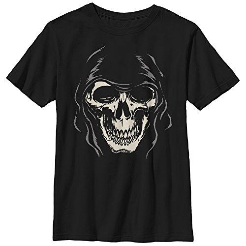 Lost Gods Boys' Halloween Grim Reaper Face Black T-Shirt -