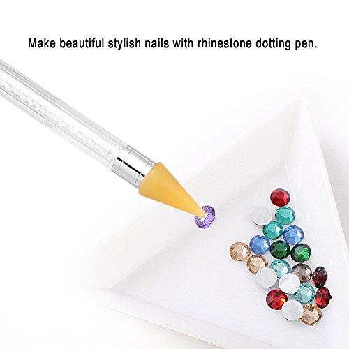 Anself Lápiz Pluma Selector Cristal de Cera para Diamante de Arte de Clavo de Uñas: Amazon.es: Belleza