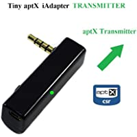 KOKKIA iTRANSMITTER: iAdapter aptX Transmitter , UNIVERSAL 3.5mm Tiny aptX Enhanced Data Rate Bluetooth Stereo Transmitter. Works with all iPods/iPhones/iPads, Android/Windows/Samsung SmartPhones/Tablets, PCs/Macs, all Music Devices with 3.5mm audio sockets, etc