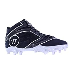 BURN6MBB BY WARRIOR NEW ADULT MENS LACROSSE BLACK WHITE US MENS 8.5D