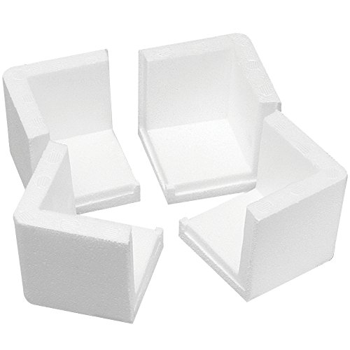Boxes Fast BFPF201 Foam Corners, Load Capacity, 3'' Length, 3'' width, 3'' Thick,, White ( 000) by Boxes Fast