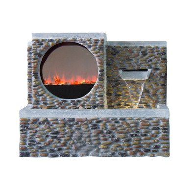Fireplace LED Pebble Fountain