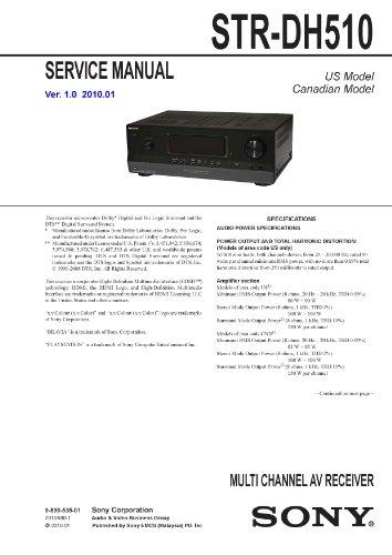SONY STRDH510 Service