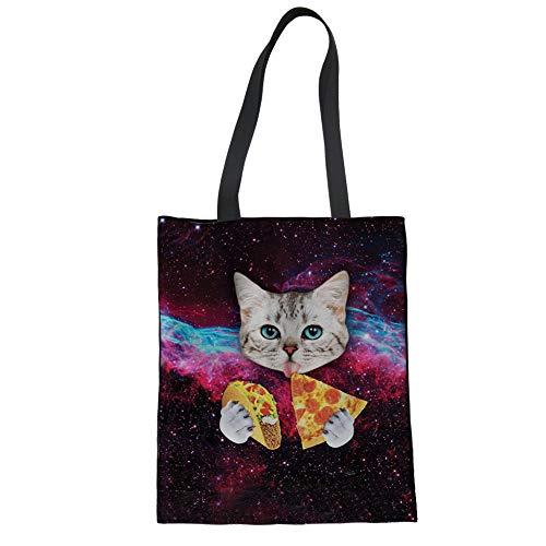 Mandala1 Size Large Cat Watermelon Bag Casual Fabric Shopping Cotton Cotton Nopersonality Large wxTA8nq6Y
