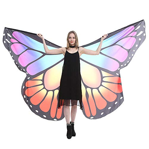 VEFSU Egypt Belly Wings Party Dancing Costume Butterfly Wings Dance Accessories No Sticks (Purple) ()