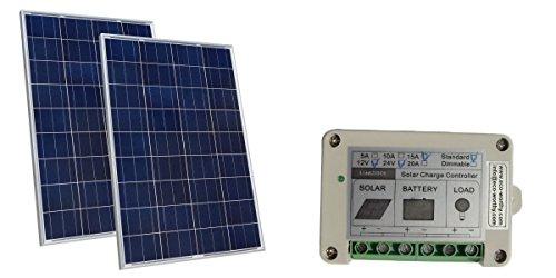 200W Solar Panel kit 2x 100W Watt Solar Panels W/ 15A Solar (15a Watts)