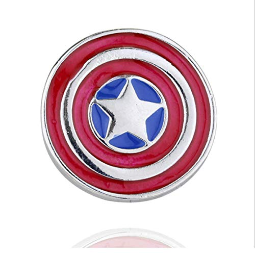 (Reddream Marvel The Avengers Keychain Pendant Charm Jewelry Gifts for Teens (American Captain Shield Pin))