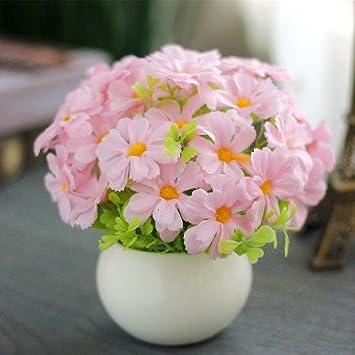 Amazon.com: Flores artificiales mini kit Potted Kit de ...