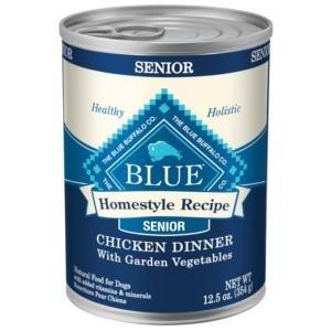 BLUE BUFFALO-Homestyle Recipes Senior Chicken Dog 12/12.5 oz. CASE