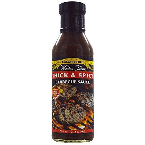Walden Farms, Thick & Spicy Barbecue Sauce, 12 oz (340 g) Walden Farms, Thick & Spicy Barbecue Sauce, 12 oz (340 g) - 2pcs