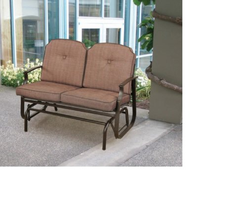Fathers Day Outdoor 2 Two Seater Swing Glider Patio Deck Bench Brown