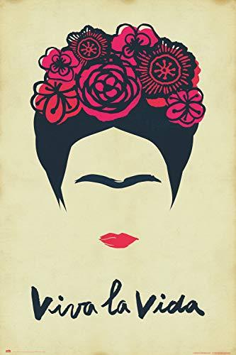 po Erik GPE5363 Erik Frida Kahlo Viva LA Vida, poster Solo, 61 x 91,5 c
