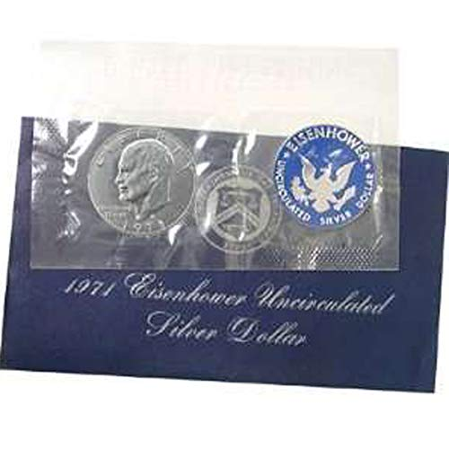 """1971-S Uncirculated Eisenhower """"Blue Pack"""" Silver Dollar with Original Packaging"""