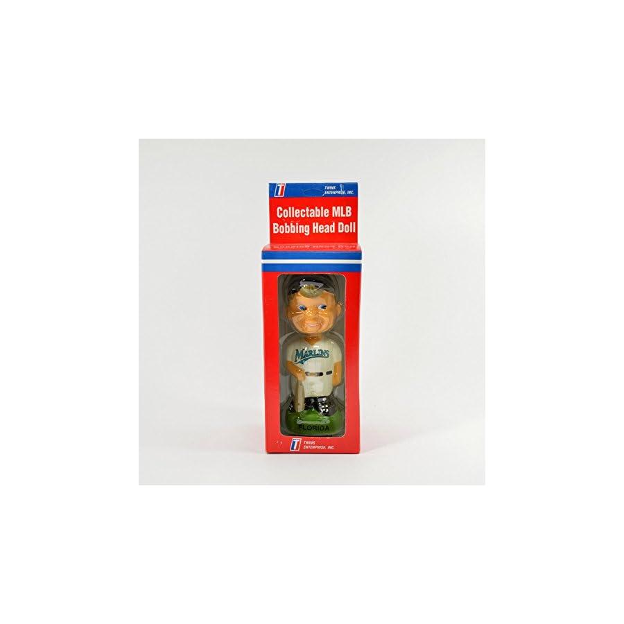 """Florida Marlins Bat Boy 7"""" Collectable Ceramic Bobble Head NIB"""