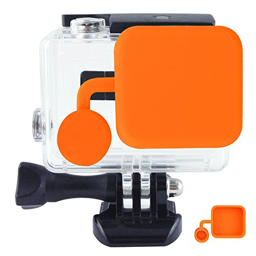 Toughsty Protective Lens Cover Soft Silicone Rubber Material Dustproof Scratchproof Cap for GoPro HD Hero 4 3+ Camera Housing Case