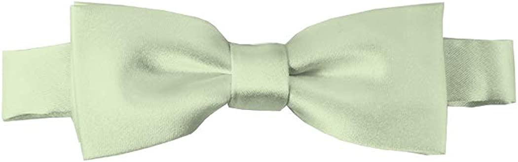 Solid Light Sage Green Kid's Pre-Tied Bow Tie