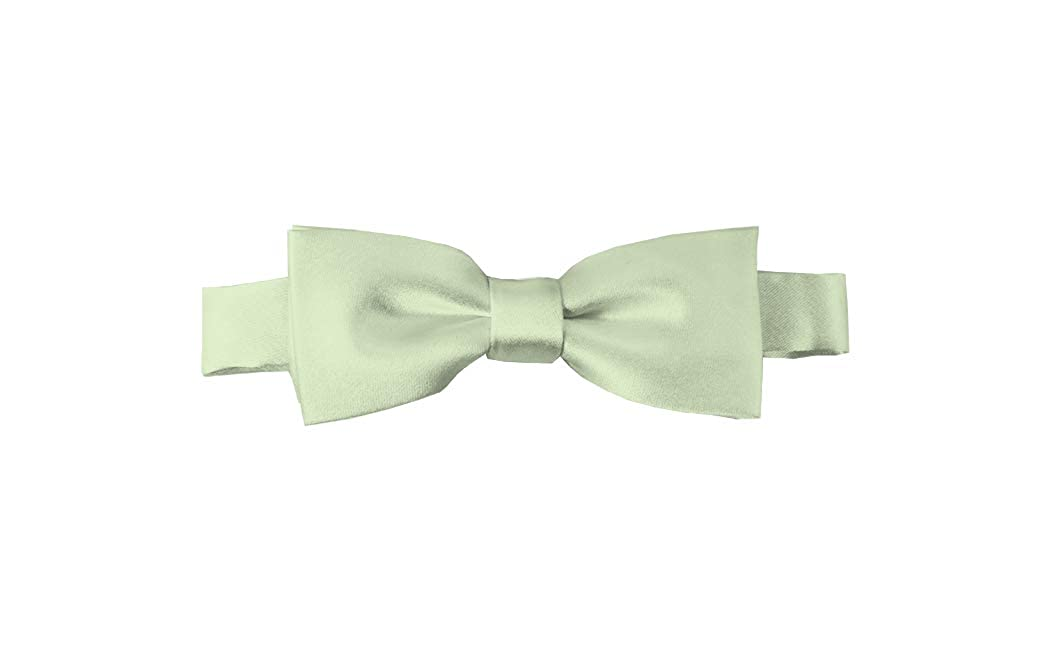 Solid Light Sage Green Kids Pre-Tied Bow Tie