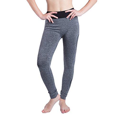 iLUGU Women Gym Yoga Patchwork Sports Running Fitness Leggings Pants Athletic Trouser(S,Black-35) by iLUGU (Image #7)