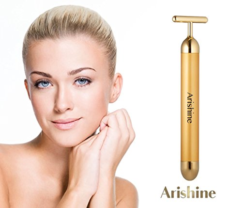 Arishine 24k Golden pulse facial massager, Instant Face Lift, Anti-Wrinkles,Skin Tightening, Face Firming, Eliminate Dark Circles, and a good Anti-Aging Device (Lift Wrinkle)