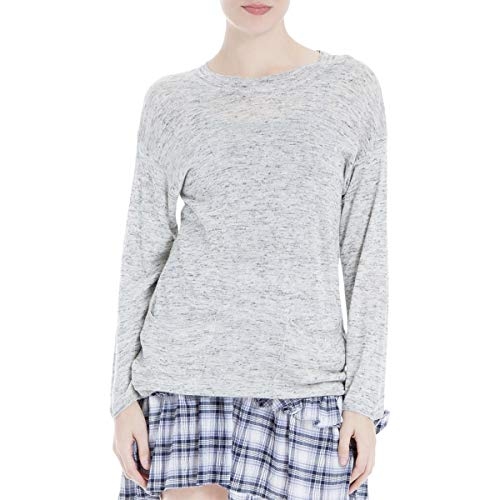 (Max Studio London Womens Crew Neck Front Pockets Pullover Sweater Gray M)